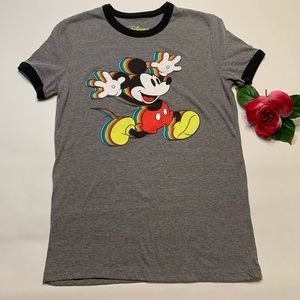 Disney Womens Small Mickey Mouse Pride T-Shirt